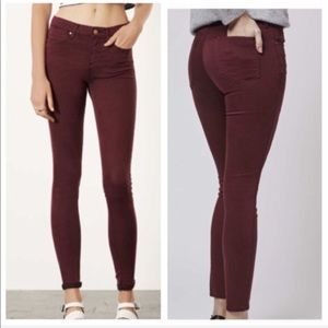 Burgundy Leigh Jeans (Topshop)